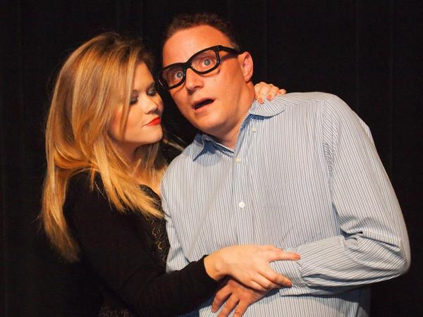 """Pamela Stone and David Strauss in """"Play It Again, Sam"""" at Theatre Downtown."""