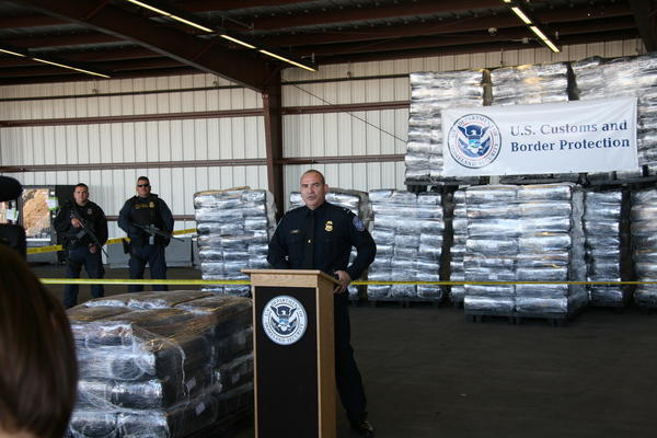 Nogales Area Port Director Guadalupe Ramirez talks about the record marijuana seizure.