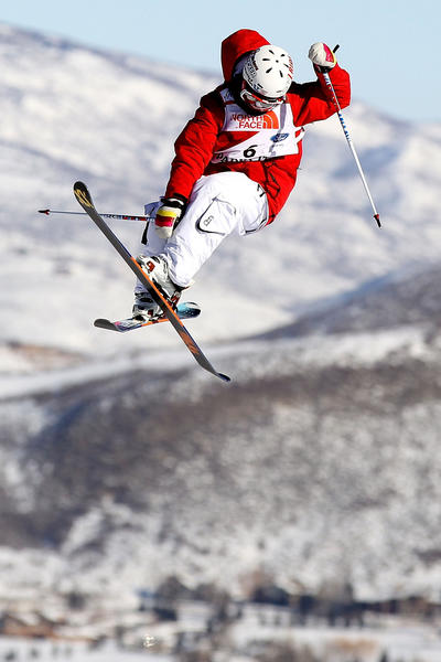 Ashley Battersby competes in slope style qualification for the FIS Freestyle World Championships in 2011 in Park City, Utah.