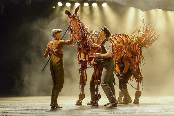 "A scene from ""War Horse,"" which is at the Segerstrom Center for the Arts through Feb. 3."