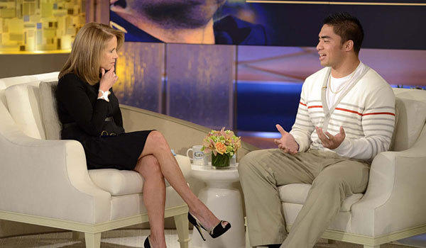 Katie Couric talks to Manti Te'o