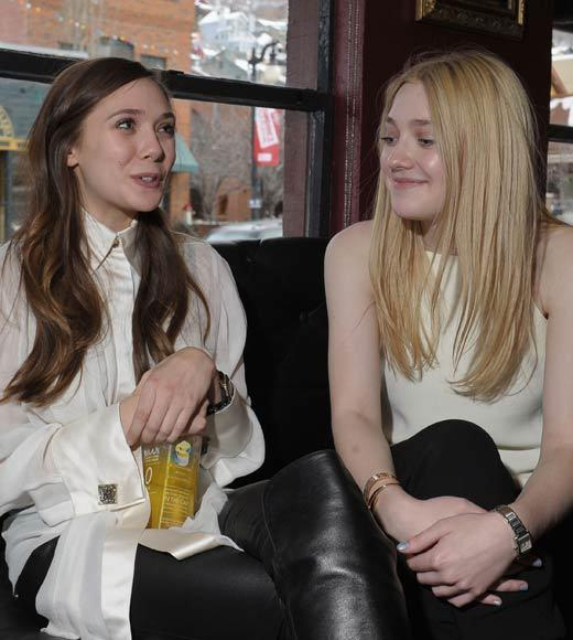 "Actors Elizabeth Olsen and Dakota Fanning attend ""Very Good Girls"" Official Cast and Filmmakers Lunch."
