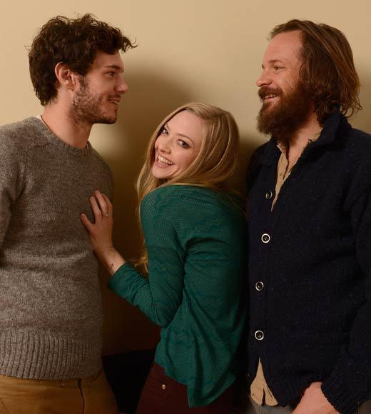 Sundance Film Festival 2013 celebrity sightings: Actors Adam Brody, Amanda Seyfried and Peter Sarsgaard pose for a portrait during the 2013 Sundance Film Festival at the Getty Images Portrait Studio at Village at the Lift. They appear together in Lovelace.