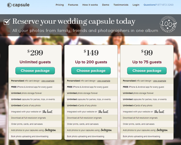 Capsule signs a deal with TheKnot.com.