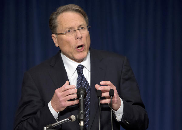 National Rifle Assn. Executive Vice President Wayne LaPierre speaks at a news conference in response to the Connecticut school shooting.