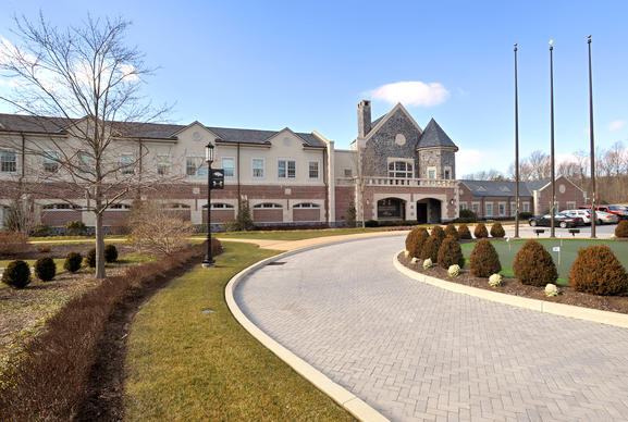 "This is the Baltimore Ravens Training Facility, nicknamed ""The Castle, at 1 Winning Drive."""