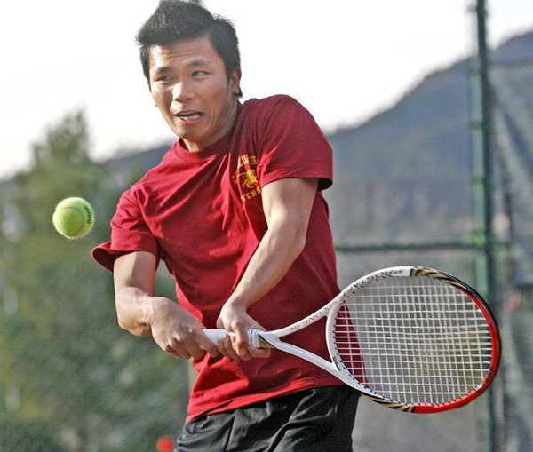 Dat Le, 20, of the Glendale Community College men's tennis team, is a native of Vietnam.