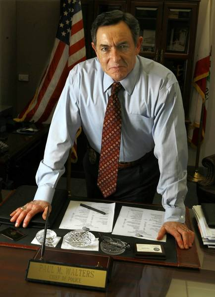 Paul Walters in 2008, when he was Santa Ana's police chief; he later became the city's manager and was asked to resolve a $35-million budget shortfall.