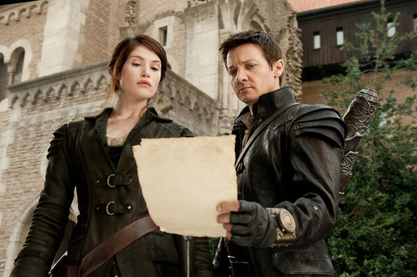 """Gemma Arterton, left, plays Gretel and Jeremy Renner plays Hansel in """"Hansel & Gretel: Witch Hunters."""" Paramount Pictures Photo"""