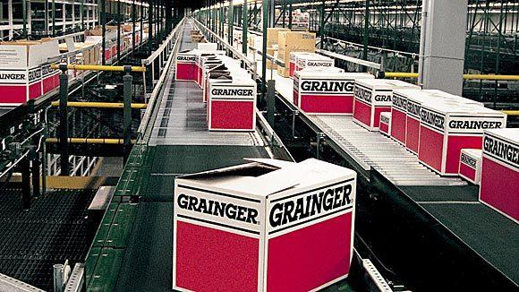 Grainger products being prepared for shipment at a distribution center.