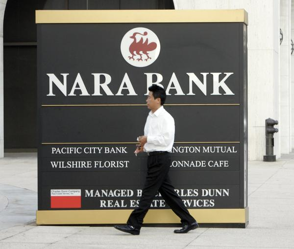 The merger of Nara and Center banks to form BBCN Bank has intensified competition in the Korean American niche. Another big player in L.A.'s Koreatown, Hanmi Bank, says it is looking for its own merger partner.