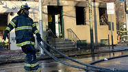 A three-alarm fire gutted a three-story brick building of offices and apartments in Mount Vernon early Thursday morning, according to the Baltimore Fire Department.
