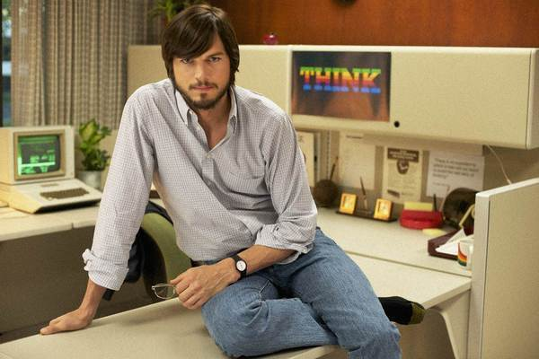 Ashton Kutcher stars as Apple founder Steve Jobs in a movie set for release in April.