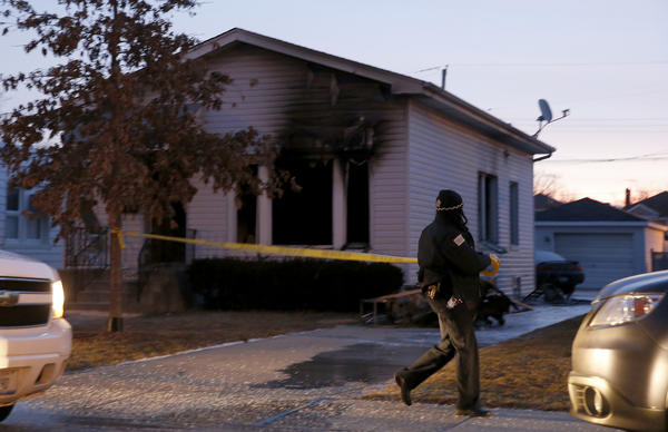 A woman was found dead inside a burning Jefferson Park home early Thursday morning in the 5000 block of North Mobile Avenue this morning.