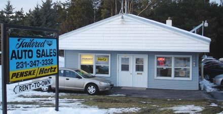 Tailored Enterprises U.S. 31 North location in Petoskey is shown. The business recently became an agency for Hertz car rentals.