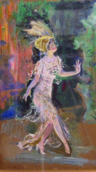 "Everett Shinn, The Dancer, 1909, oil on board. From the exhibit Millionaires and Mechanics, Bootleggers and Flappers: Speaking of ""The Great Gatsby"""
