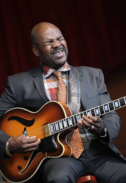 Bobby Broom plays with the Deep Blue Organ Trio at the Chicago Jazz Festival in 2011.
