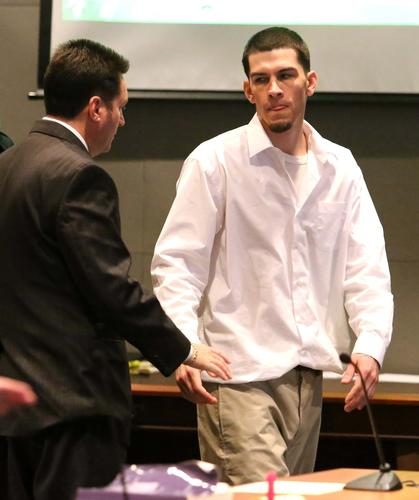 Scenes from the first-degree murder trial of David-Israel Murillo in Osceola circuit court in Kissimmee, Thursday, January 24, 2012. Murillo is charged with first-degree murder in a 2010 slaying in Celebration, Fla.  (Joe Burbank/Orlando Sentinel)