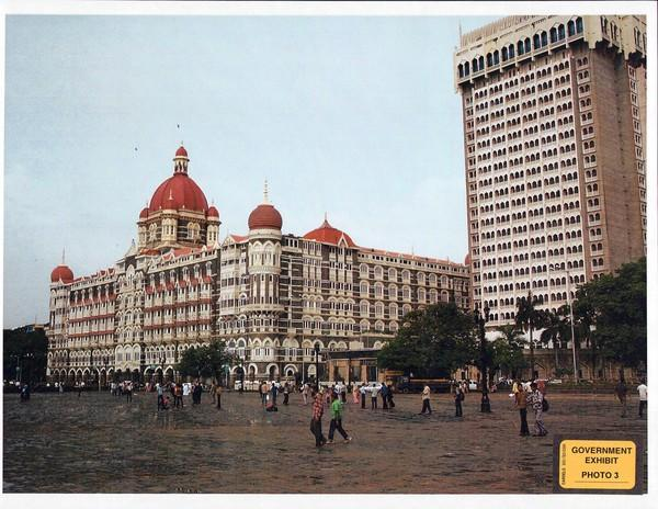 This picture of the Taj Hotel in Mumbai, taken by David Headley, was entered as evidence in the U.S. government trial against Chicago businessman Tahawwur Rana. The Taj Hotel was the location of a terror attack in December 2008.
