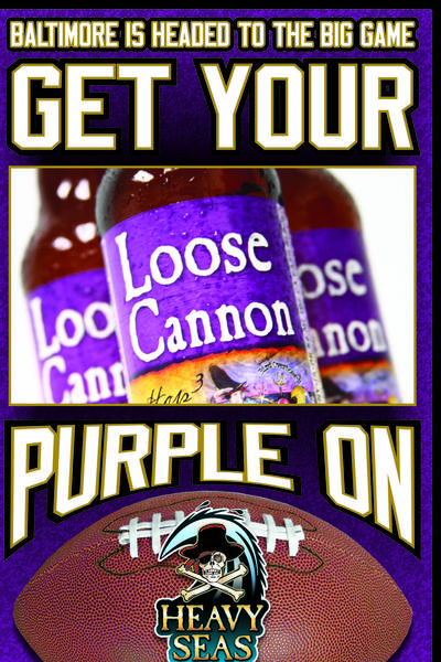 Heavy Seas Brewing in Halethorpe has a special purple label on its Loose Cannon beer in honor of the Ravens' Super Bowl appearance. The craft brewery is one of seven Maryland breweries featured during a special Super Bowl promotion at Padonia Station in Timonium Jan. 31 through Feb.3.