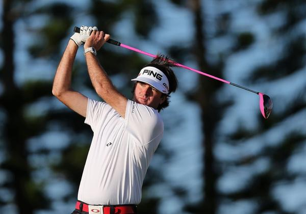 Bubba Watson hits a tee shot during the Hyundai Tournament of Champions on Jan. 8 in Kapalua, Hawaii.