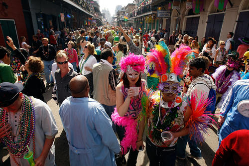 "It's true - there won't be any parades downtown during the Super Bowl, so mister can't throw you something. But there will be some parades outside the city proper, including in Metarie and Covington. (See a schedule at <a href=""http://www.mardigrasguide.com"">mardigrasguide.com</a>). You can also catch the carnival spirit at <a href=""http://www.arnaudsrestaurant.com"">Arnaud's</a> restaurant, (813 Bienville Ave., 504-523-5433), where you can enjoy a romantic meal and then head upstairs to view their Mardi Gras exhibit. Before you return home, sample some authentic king cake, a French pastry served only during Mardi Gras season. Try it at Cake Cafe and Bakery (<a href=""http://www.nolacakes.com"">nolacakes.com</a>), Sucre (<a href=""http://www.shopsucre.com"">shopsucre.com</a>) or Haydel's (<a href=""http://www.haydelbakery.com"">haydelbakery.com</a>). You can even ship the cakes home to help friends or family spice up their Super Bowl parties New Orleans-style."
