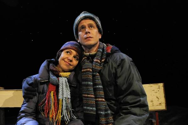 Laura Esposito and Lucas Hall are part of the cast of 'Almost, Maine' at TheaterWorks in Hartford.