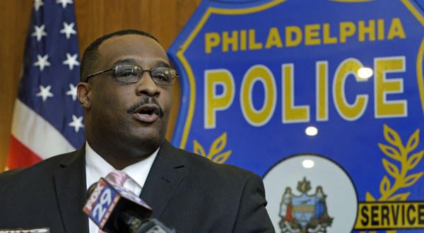 Homicide unit Capt. James Clark speaks during a news conference in Philadelphia.