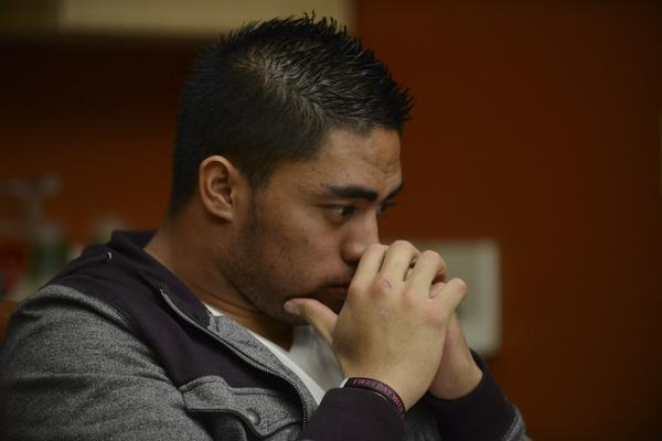 Manti Te'o during his interview with ESPN on Jan. 18.