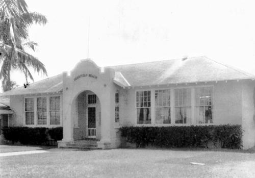 The 1920 Deerfield Beach school house was a two-room building for grades one through eight.