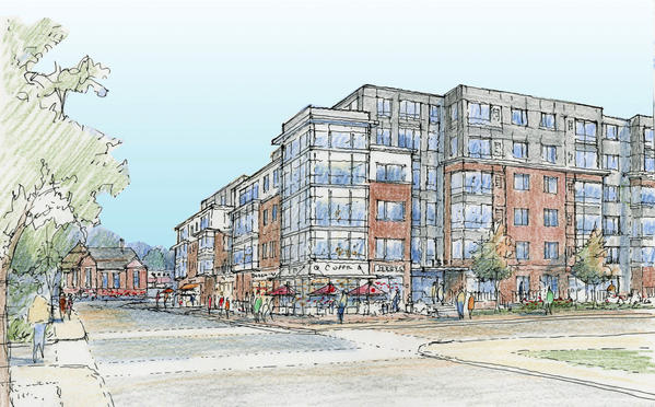 Patriot Realty, the developer for the MARC station project, is proposing a four- to six-story building with 310 apartments and 10,000 square feet of retail space on the ground floor.