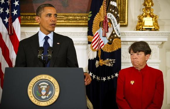 President Obama and Mary Jo White