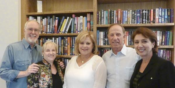 The Making Your Nonprofit Newsworthy workshop was presented as a partnership between the Laguna Beach Seniors and Laguna Beach Community Foundation. From left to right: Chris Quilter, Laguna Beach Seniors president emeritus; Darrcy Loveland, Laguna Beach Community Foundation CEO; Terri Johnson, Laguna Beach Seniors director; Rick Balzer, Laguna Beach Community Foundation director; and Nadia Babayi, Laguna Beach Seniors executive director.