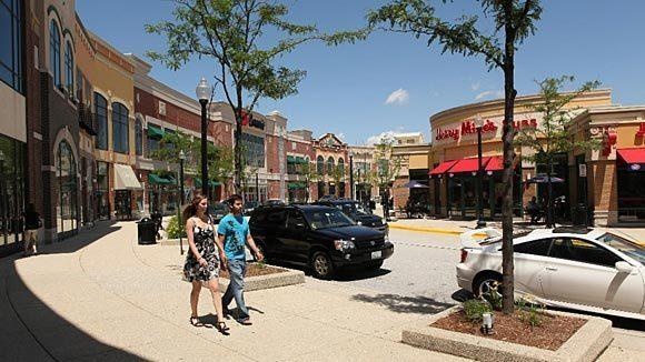 The Streets of Woodfield Mall in Schaumburg.