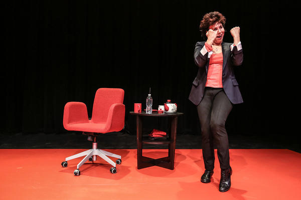 "Ruby Wax in a scene from ""Ruby Wax: Out of Her Mind"" at the Broad's The Edye Second Space."