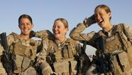 You go, military girls -- to the front lines