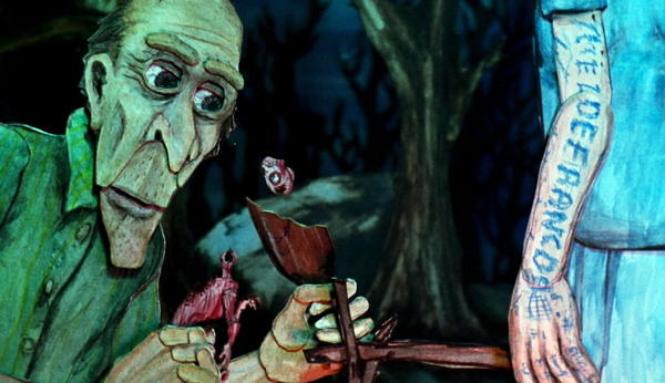 """Director Chris Sullivan employs a variety of techniques to create the animation in """"Consuming Spirits."""" Voices are provided by Sullivan, Robert Levy and Nancy Andrews."""