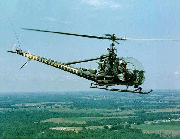 The Hiller OH-23 Raven was a helicopter introduced in 1948.
