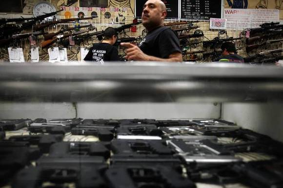 The Los Angeles Gun Club drew crowds Saturday. Range master Joseph Im said the range had seen an uptick in its ammunition sales since the Sandy Hook shooting in Newtown, Conn., which has renewed the debate over gun control.