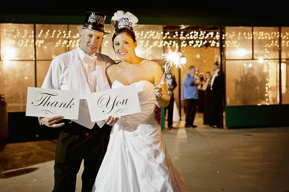 Tiffany Trask and Jason Harriman celebrated their New Year's Eve wedding at the Annapolis Waterfront Marriott.