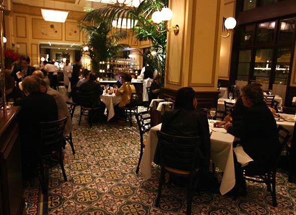 At Thomas Keller's Bouchon Bistro, which opened in late 2009 in Beverly Hills, main dishes are $18 to $45.