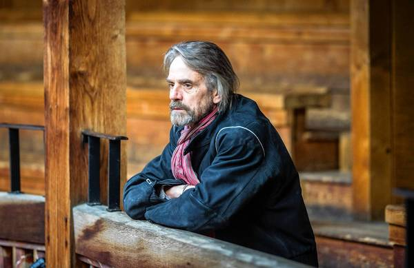 "Jeremy Irons in a scene from PBS' ""Shakespeare Uncovered."""