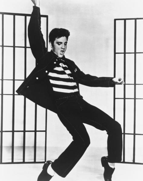 """Elvis Presley starred in """"Jailhouse Rock"""" in 1957."""