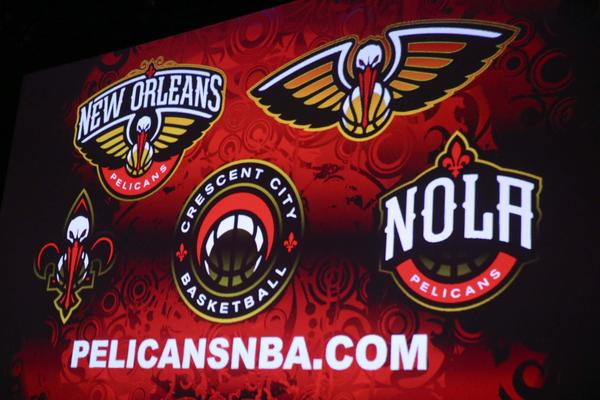 The New Orleans franchise unveiled its new nickname, Pelicans, and new logos for next season.