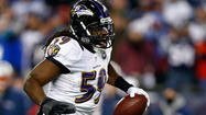 As the Ravens prepare to meet the San Francisco 49ers in Super Bowl XLVII on Feb. 3, Dannell Ellerbe was the only player to miss Thursday's practice. The starting inside linebacker is dealing with ankle and back injuries.