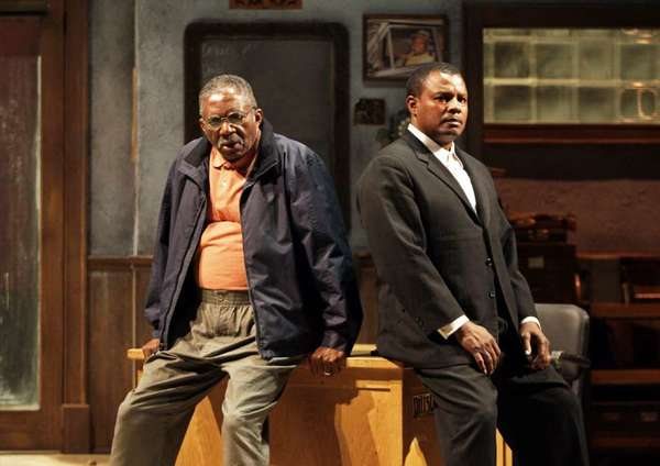 "A scene from South Coast Repertory's production of ""Jitney"" by August Wilson. Charlie Robinson, left, and Montae Russell costarred."