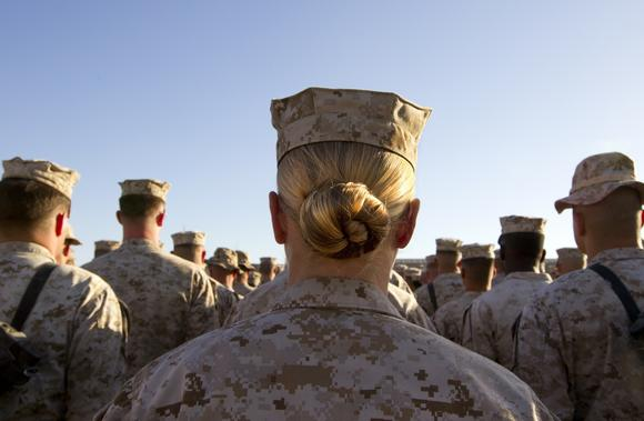 Women now account for 15% of service members.