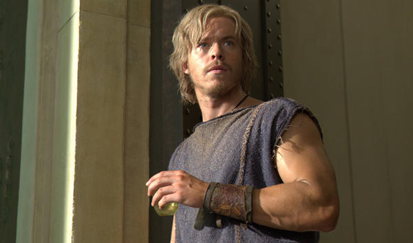 "Todd Lasance stars as a young Julius Caesar in Starz' ""Spartacus: War of the Damned."""