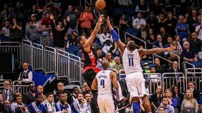DeRozan's fadeaway as time expires sends Magic to 97-95 loss