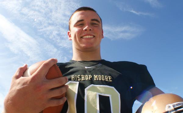 Bishop Moore QB Danny May has committed to Trinity College, a Division III school in Hartford, Conn.